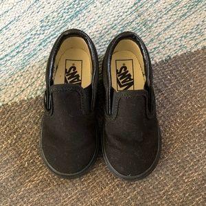 Black Toddler Slip-on Vans